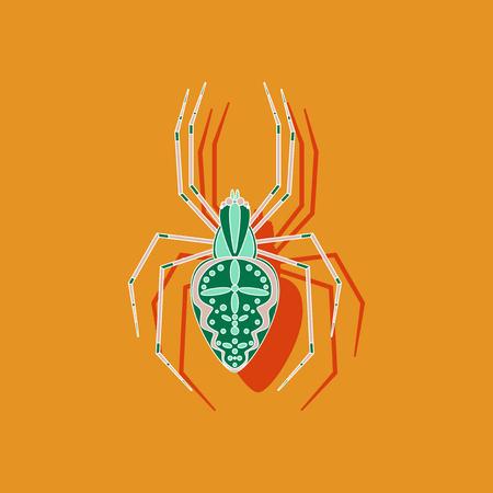 phobia: paper sticker on stylish background of Araneus
