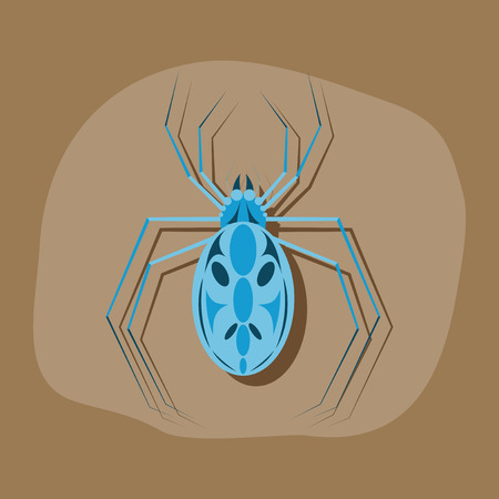 paper sticker on stylish background of halloween spider Illustration