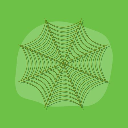 arachnid: paper sticker on stylish background of spider web