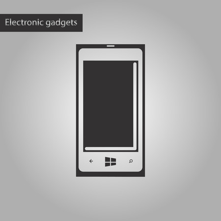 touchphone: black and white style icon of mobile phone