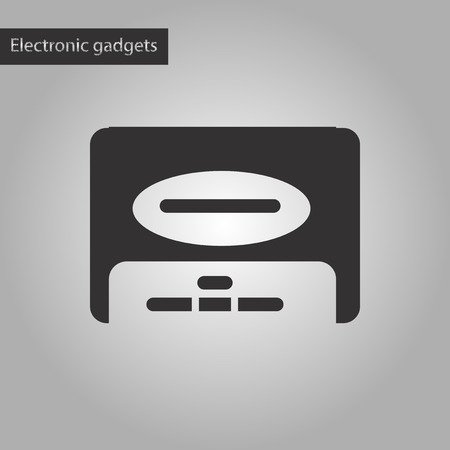 megabytes: black and white style icon of removable hard drive