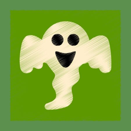 flat shading style icon Halloween ghost