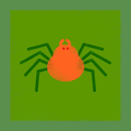 arachnid: flat shading style icon halloween spider Illustration