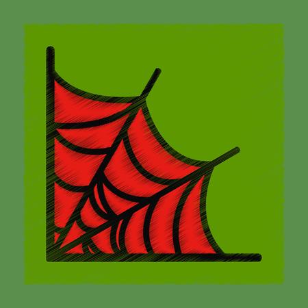 frightful: flat shading style icon spider web