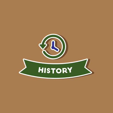 lesson: paper sticker on stylish background history lesson