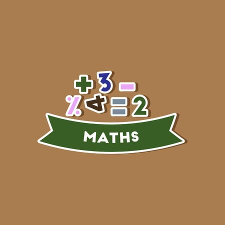 lesson: paper sticker on stylish background math lesson