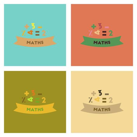 lesson: assembly flat icons math lesson Illustration