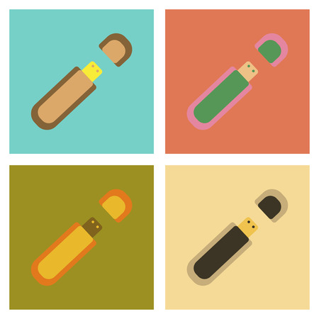 microdrive: assembly flat icons flash drive Illustration