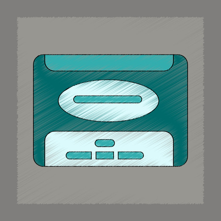 removable: flat shading style icon removable hard drive