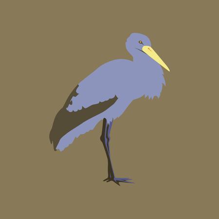 Vector illustration in flat style of stork Illustration