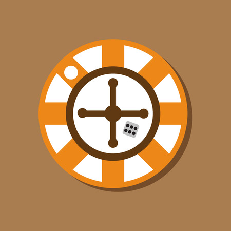original single: paper sticker on stylish background roulette casino