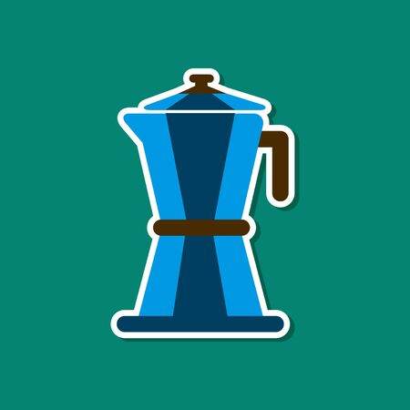 paper sticker on stylish background coffee machine maker