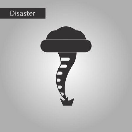 sea disaster: black and white style icon disaster tornado