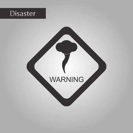 sea disaster: black and white style icon of hurricane tornado Illustration