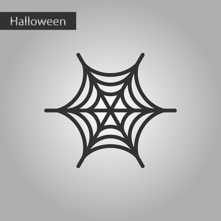 terrifying: black and white style icon spiders web