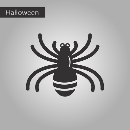 black and white style icon halloween spider