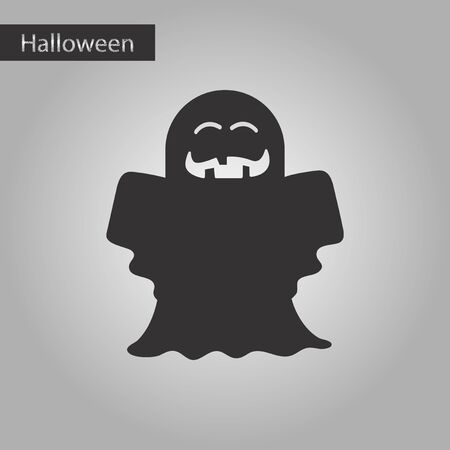 ghostly: black and white style icon Halloween ghost