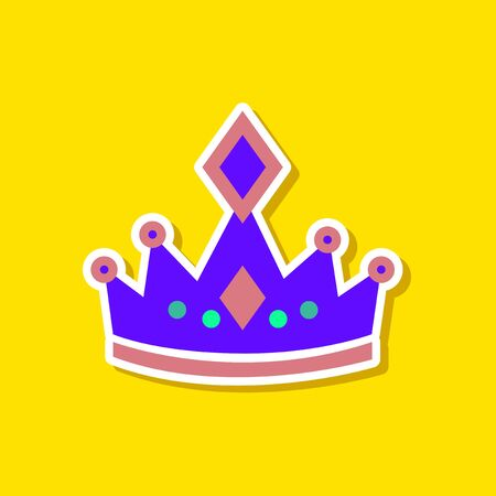 the aristocracy: paper sticker on stylish background crown royal