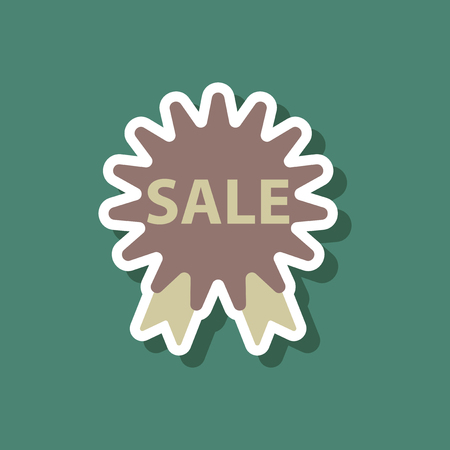 fashion patch , sale sticker label shopping Illustration
