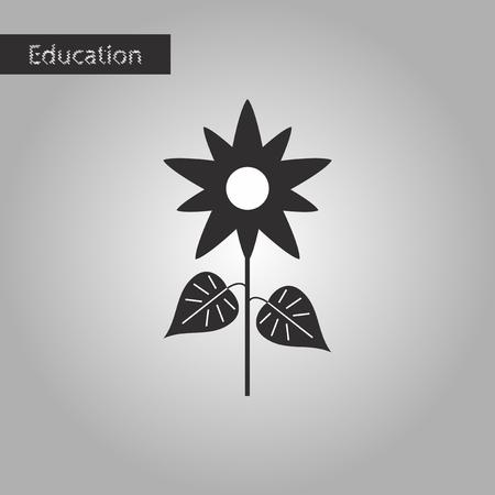 black and white style icon flower Illustration