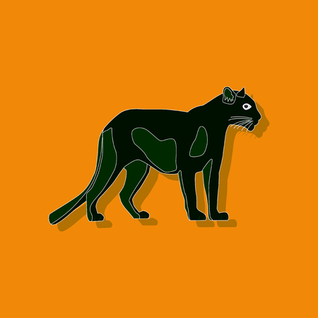gepard: panther paper sticker on stylish background