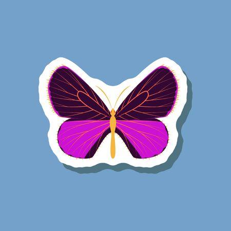 butterfly paper sticker on stylish background