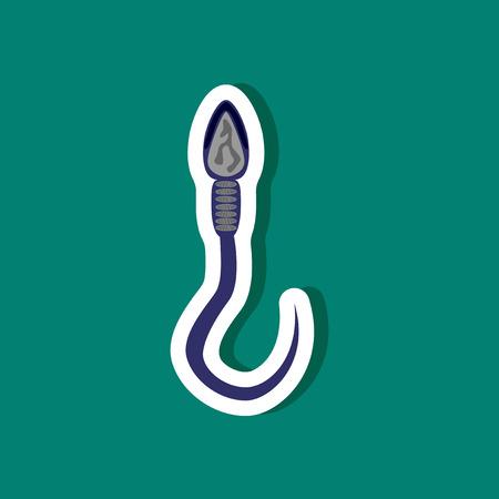sex chromosomes: paper sticker on stylish background spermatozoon Illustration