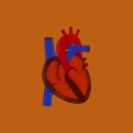 flat shading style icon heart