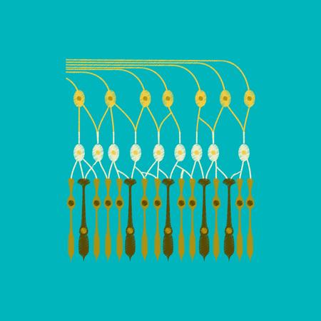 retina: flat shading style icon structure retina