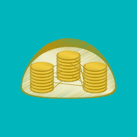 organelle: flat shading style icon chloroplast