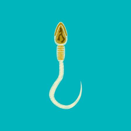 flat shading style icon spermatozoon