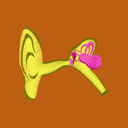 flat shading style icon ear