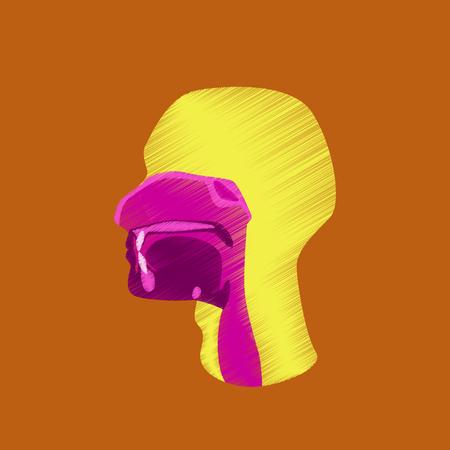 pharynx: flat shading style icon pharynx