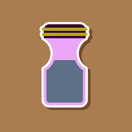 paper sticker on stylish background coffee jar Illustration