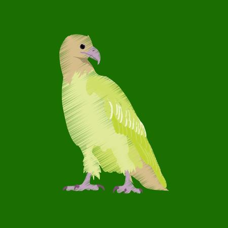 flat shading style icon eagle Illustration