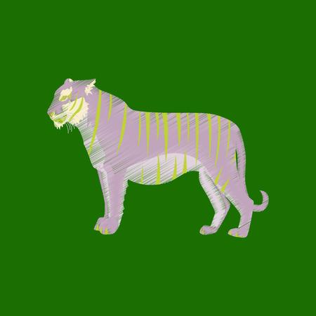 Flat shading style icon tiger Фото со стока - 73192367