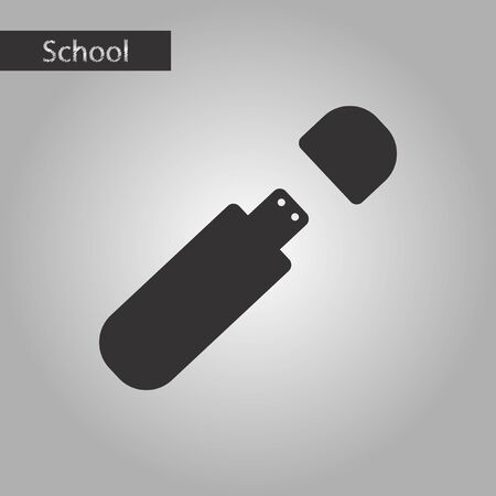 microdrive: Black and white style icon flash drive Illustration