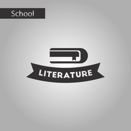 poems: Black and white style icon Literature lesson Illustration