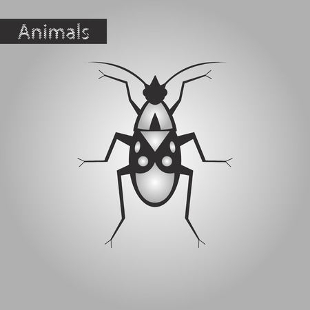 Black and white style icon of soldier bug Illustration