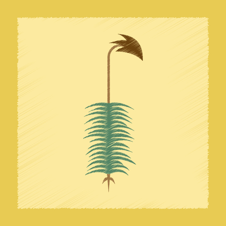 spore: flat shading style icon nature plant Polytrichum Illustration