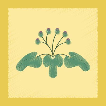 asteraceae: flat shading style Illustrations plant Arctium Illustration