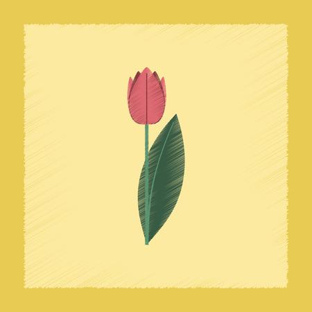 flat shading style Illustrations plant Tulipa Ilustração