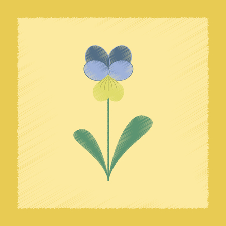 flat shading style Illustrations plant Viola Stock Photo