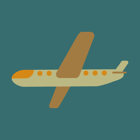 Icon in flat design aircraft