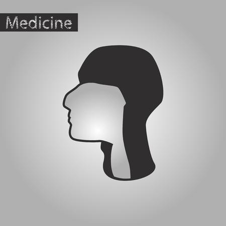 pharynx: black and white style icon of pharynx Illustration