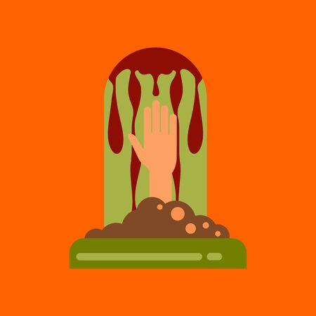 flat icon on background halloween grave Illustration