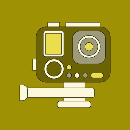 flat icon on background camcorder Illustration