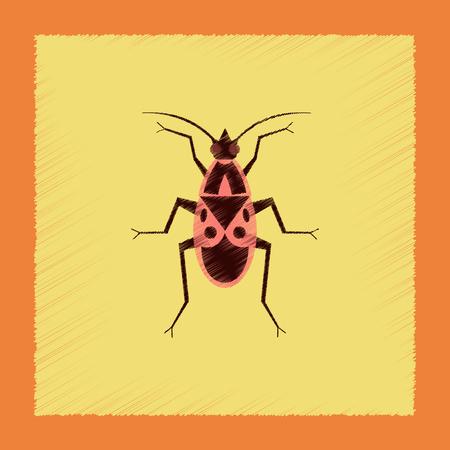 flat shading style illustration soldier bug Illustration