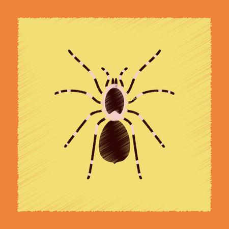 arachnoid: flat shading style illustration spider tarantula