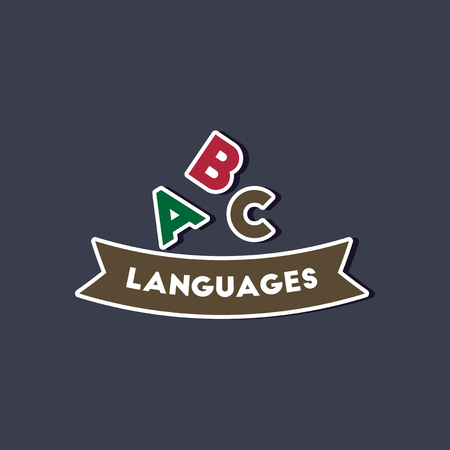 paper sticker on stylish background letters languages Illustration